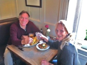 Trisha and John Parker at The Queen's Arms