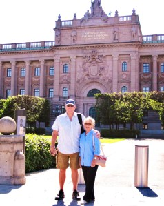 Trisha and John Parker Sweden's Parliament Stockholm
