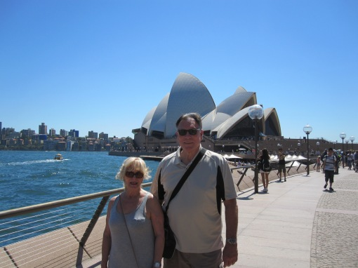 Trisha and John Parker Sydney Opera House