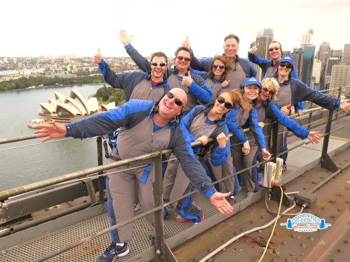 Trisha and John Parker Sydney Harbour Bridge Climb