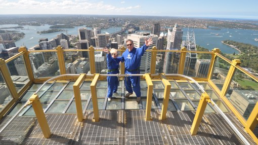 Trisha and John Parker Sydney Skywalk