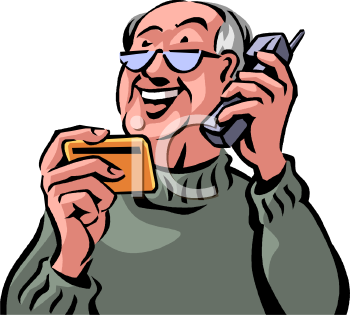 0511-0809-2616-2967_Old_Man_Paying_Over_the_Phone_With_a_Credit_Card_Clip_Art_clipart_image